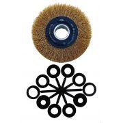 Escova De Aço Circular Ondulada 6 Pol Aço Carbono(E)
