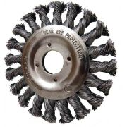 Escova De Aço Circular Trançado Diâmetro 115 Furo 22,2 Mm