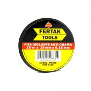 Fita Isolante Anti Chama 20m x 19mm x 0,15mm Fertak Tools