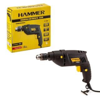 Furadeira de Impacto Elétrica 550w 2800rpm 127v Hammer