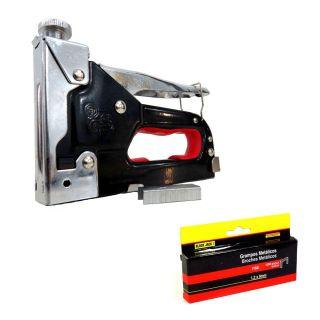 Grampeador Tapeceiro De Alta Pressão + 1050 Grampos 8mm