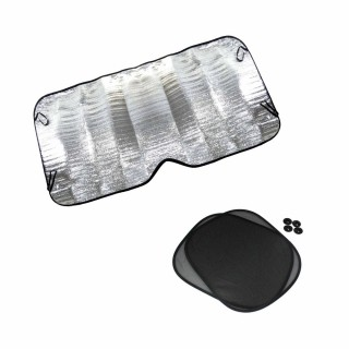 Jogo de Protetor Solar para Carro Parabrisa e Vidro Lateral