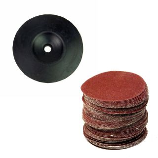 Jogo Disco de Borracha 5 Pol Lixadeira + Disco De Lixa 125mm