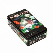 Jogo Poker 100 Fichas Chips Barcelona Cód.BAR-69161-14