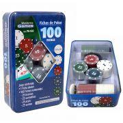 Kit 100 Fichas De Poker Numeradas Profissionais