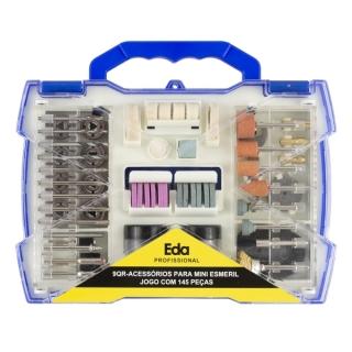 Kit Acessórios Mini Retifica Esmeril Polimento Lixa 145 Pcs
