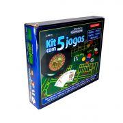 Kit Com 5 Jogos Roleta, Cartas, Poker, Dados E Blackjack
