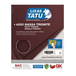 Lixa de Massa Parede Madeira Trionite 120 Grãos 50 Folhas Cód.0012
