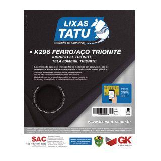 Lixa para Ferro e Aço Trionite 80 Grãos 25 Folhas