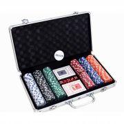 Maleta Kit Jogo De Poker Profissional 300 Fichas Numeradas