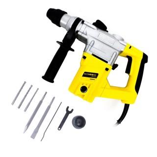 Martelete Rotativo Hammer 900W SDS Plus 5J 7 Acessórios