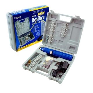 Mini Micro Retifica Eletrica Bivolt 62 Acessorios Western S/ Fio + Maleta Western R-60