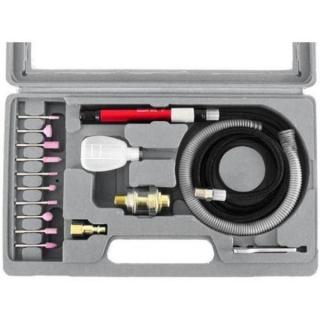 Mini Retífica Esmeril De Ar Pneumática Com 16 Acessórios