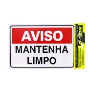 Placa Aviso Mantenha Limpo 000566 (E)