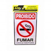 Placa Sinalizadora Para Comércio Proibido Fumar 30Cm