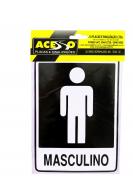 Placa Banheiro Masculino (E)
