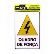 Placa de Atenção Quadro de Força (E)