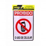 Placa de Aviso Proibido O Uso De Celular (E)