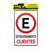 Placa Estacionamento Clientes (E)