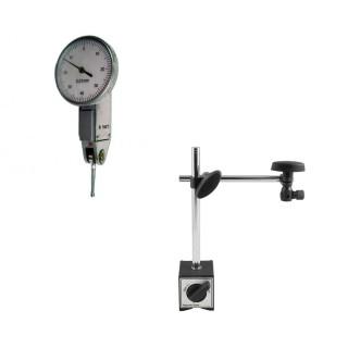 Relógio Apalpador de Alta Precisão + Base Magnética 60Kgf