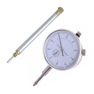 Relógio Comparador 10mm Anti Choque + Haste de Suporte