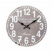 Relógio De Parede Gray 34cm Hauskraft