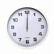 Relógio De Parede Branco Clássico 30cm Hauskraft