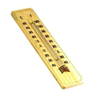 Termômetro Para Ambiente Graduação Celsius Fahrenheit Madeira TR-11