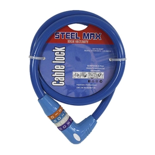 Trava Antifurto Cable Lock 12mmx1.20m Steel Max 84607A