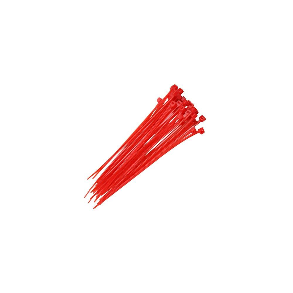 Abraçadeiras de Nylon 250 Peças Lacre Vermelhas 2,5mmx200mm