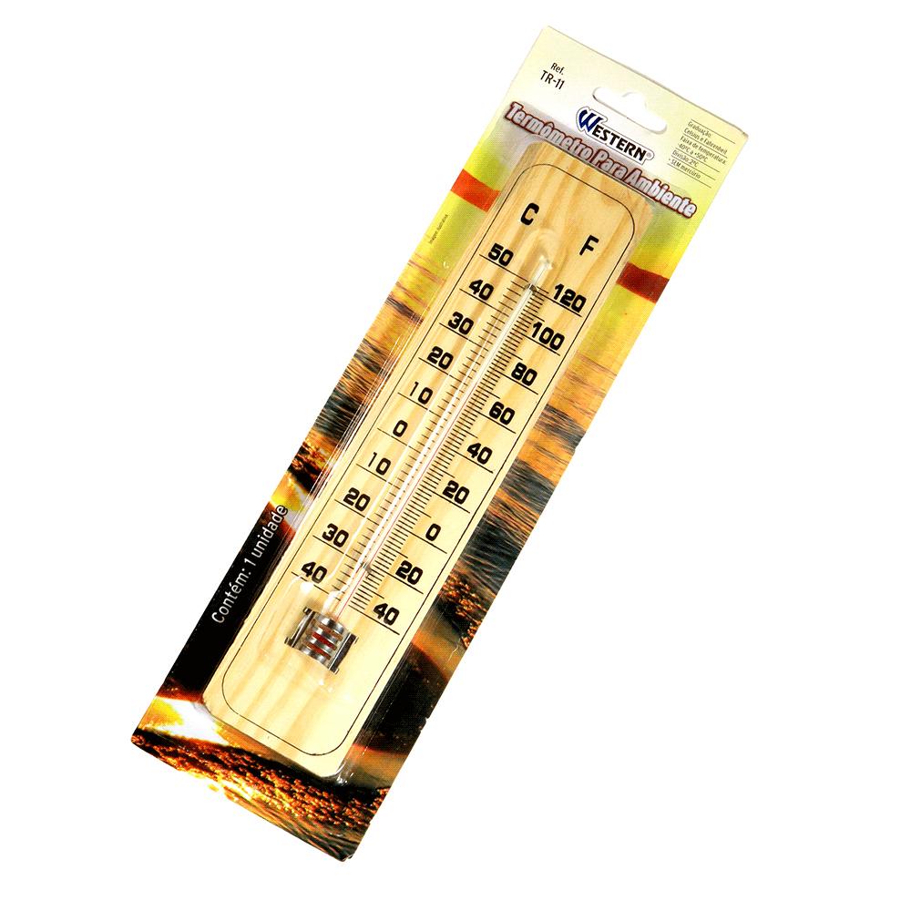 2 Termômetro Para Ambiente Graduação Celsius Fahrenheit Madeira