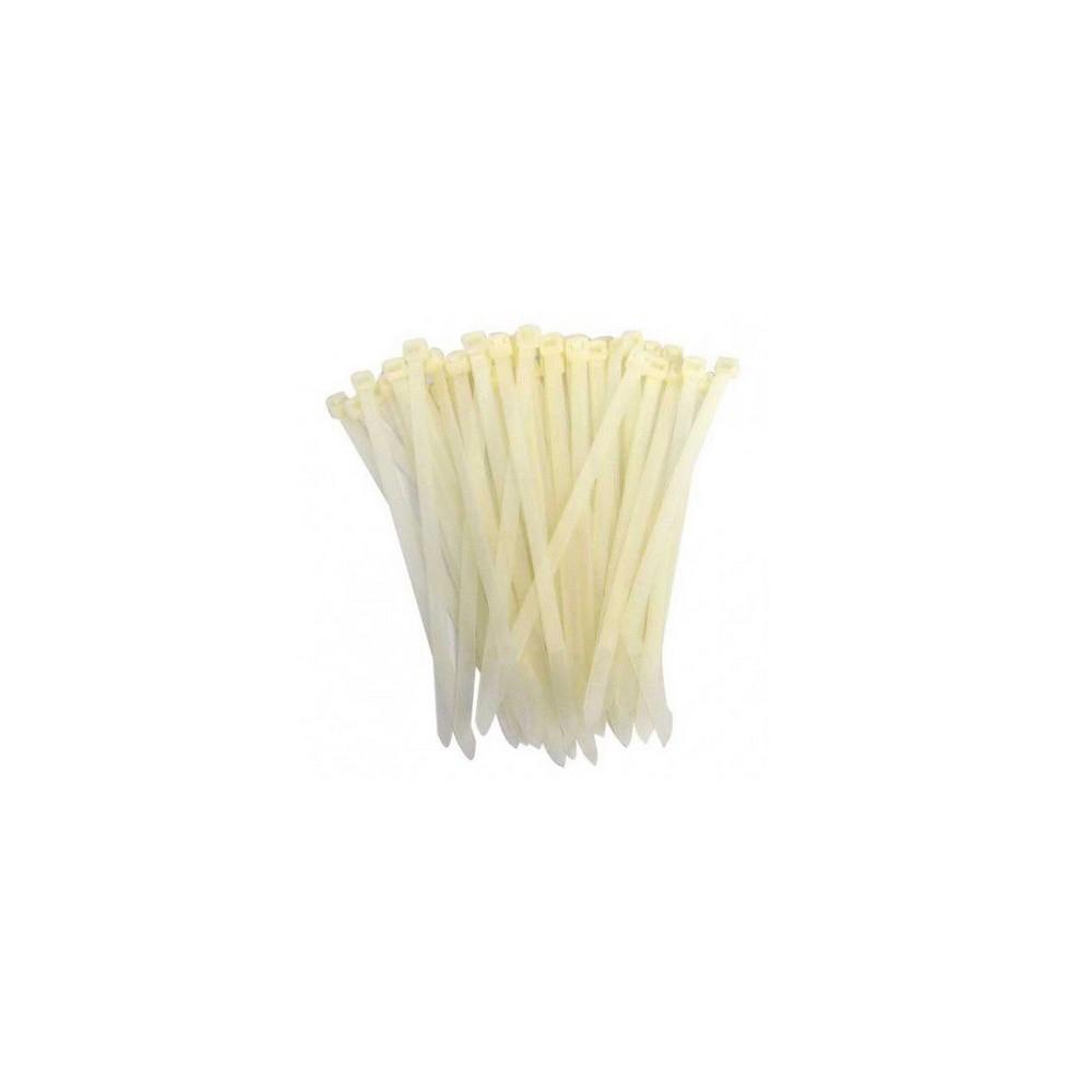 Abraçadeiras de Nylon 500 Peças Lacre Branca 2,5mmx100mm