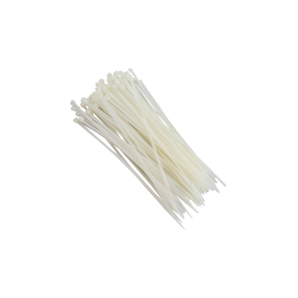 Abraçadeiras de Nylon 500 Peças para Lacre Brancas 3,6mmx200mm