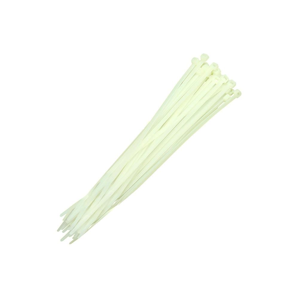 Abraçadeiras de Nylon 500 Peças Lacre Brancas de 4,8mmx350mm