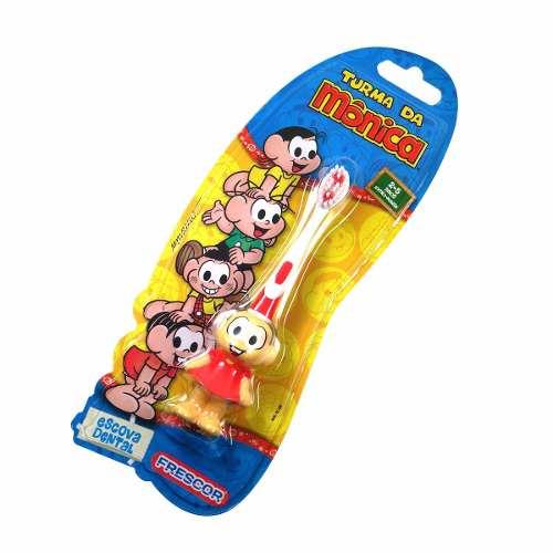 1 Escova Dental Infantil Mônica + 1 Magali + 1 Cebolinha