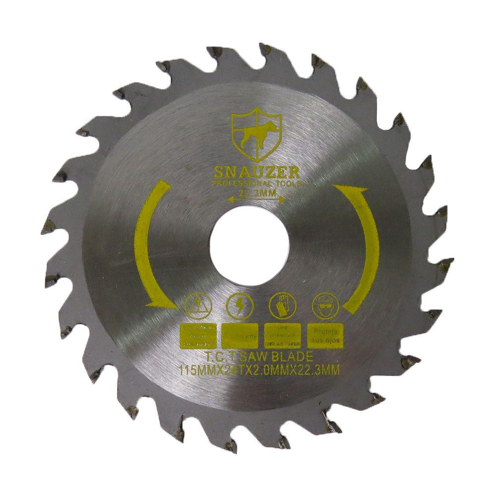 5 Disco de Serra Circular Madeira Vídea 115mm 24d com Anel