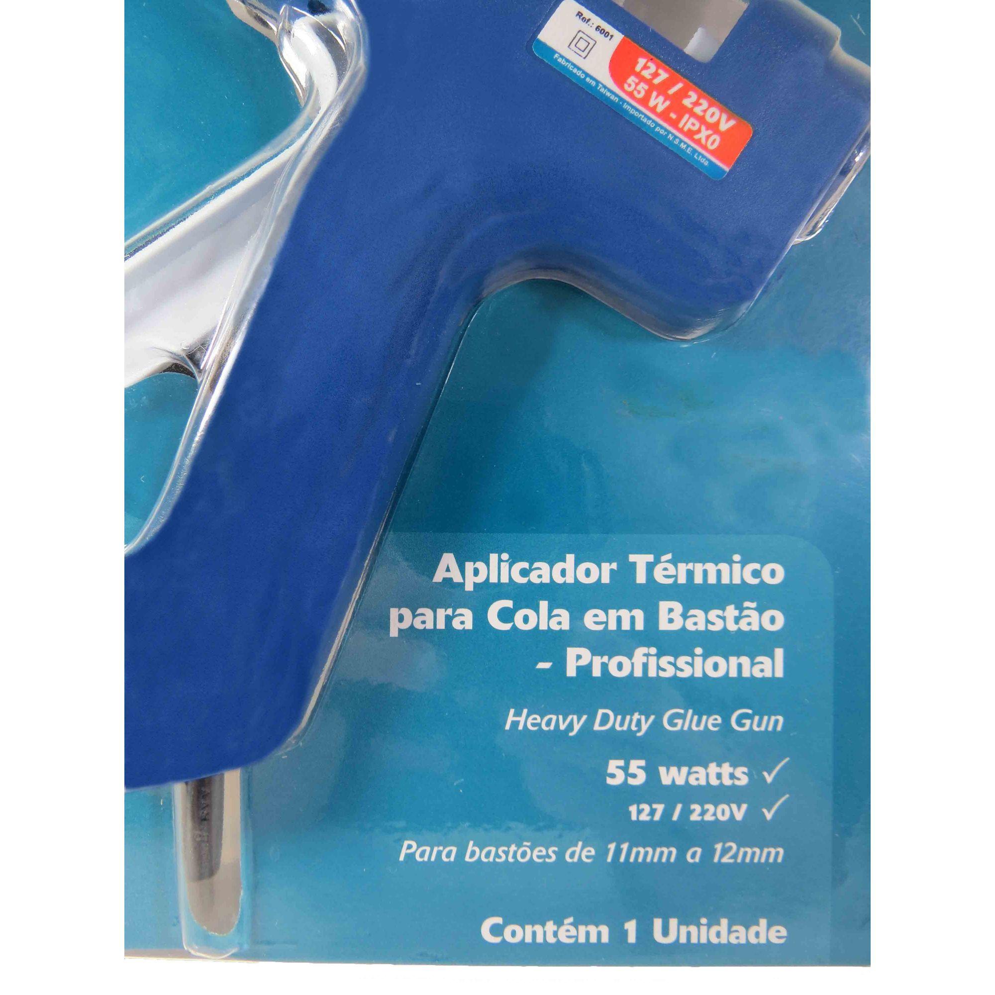 Aplicador De Cola Bastão Bivolt 55w Pistola Cola Quente Waft