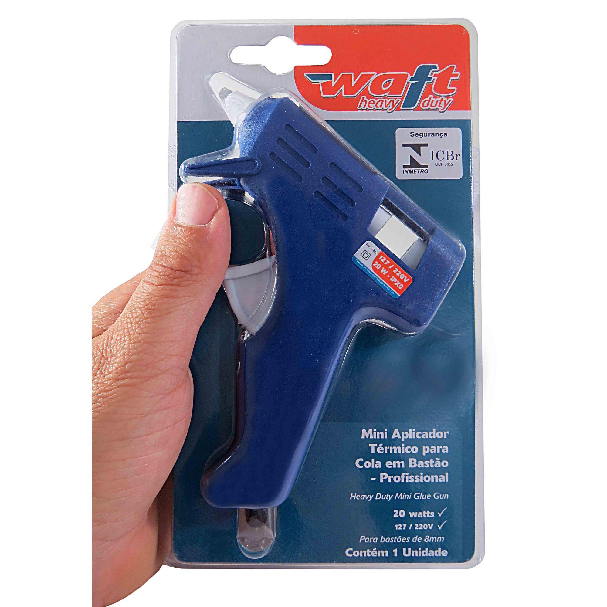 Pistola De Cola Quente Bivolt 20w Aplicador Cola Bastão Waft