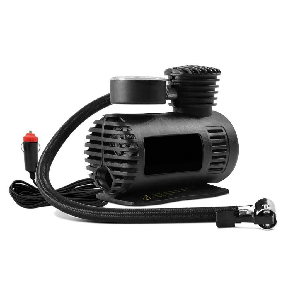 Aspirador de Pó Automotivo + Mini Compressor De Ar 12V 250PSI