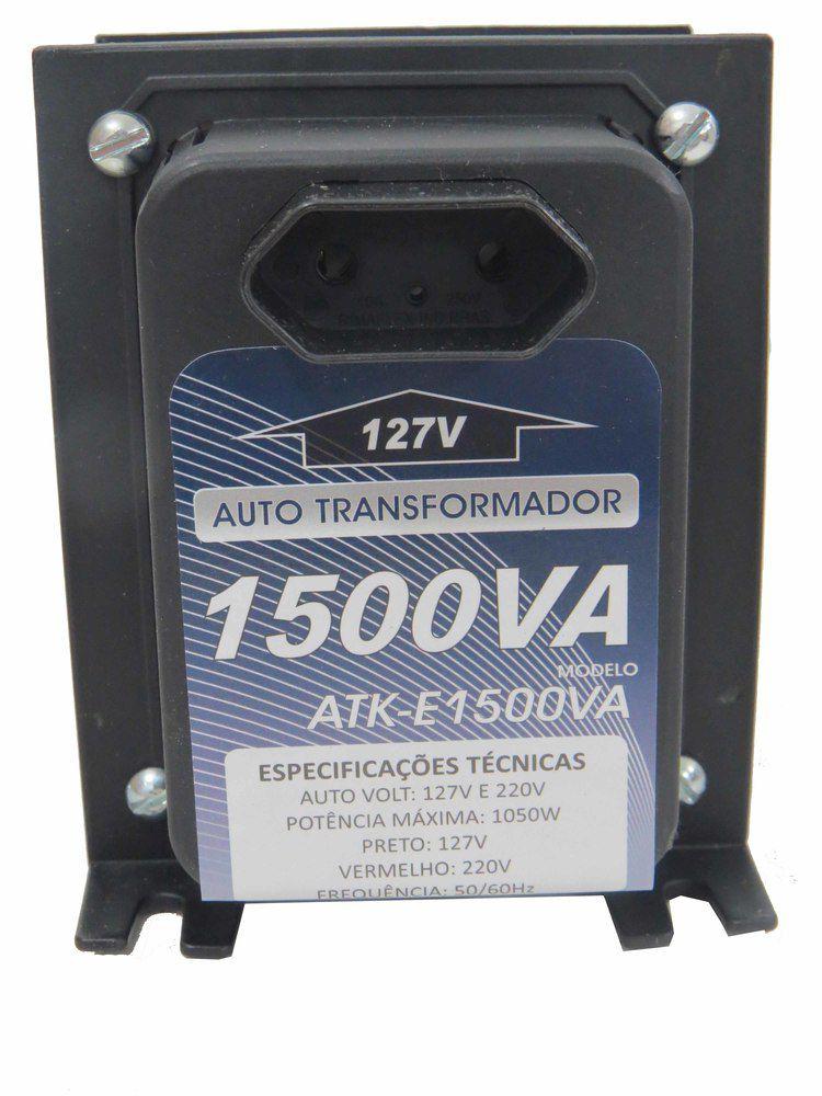 Autotransformador 1500va  7500 BTUs Conversor De Voltagem 1050W 127 220