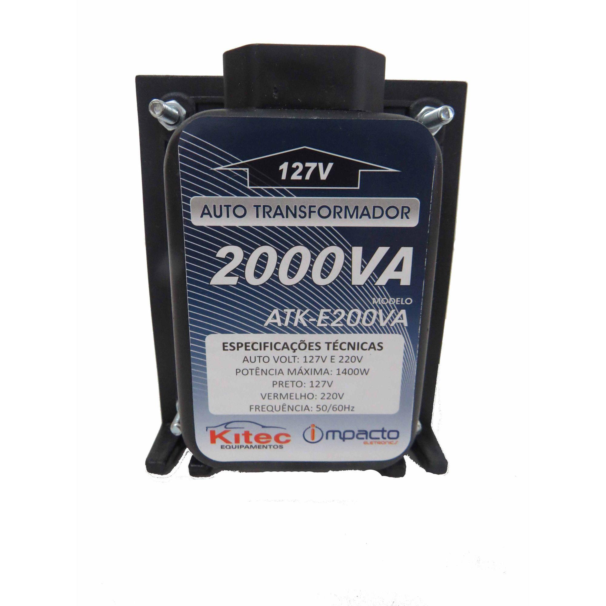 Autotransformador 2000va Conversor De Voltagem 127v 220