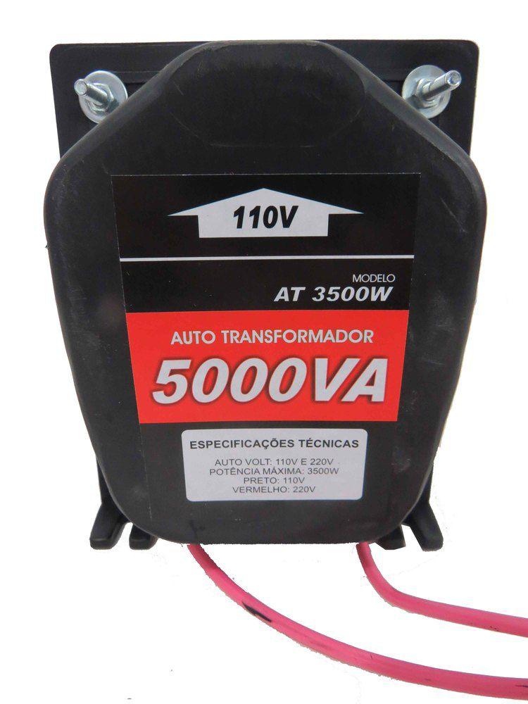 Autotransformador 5000va 12000 Btus Conversor De Voltagem 3500W 127 220V Cód.5000VAT