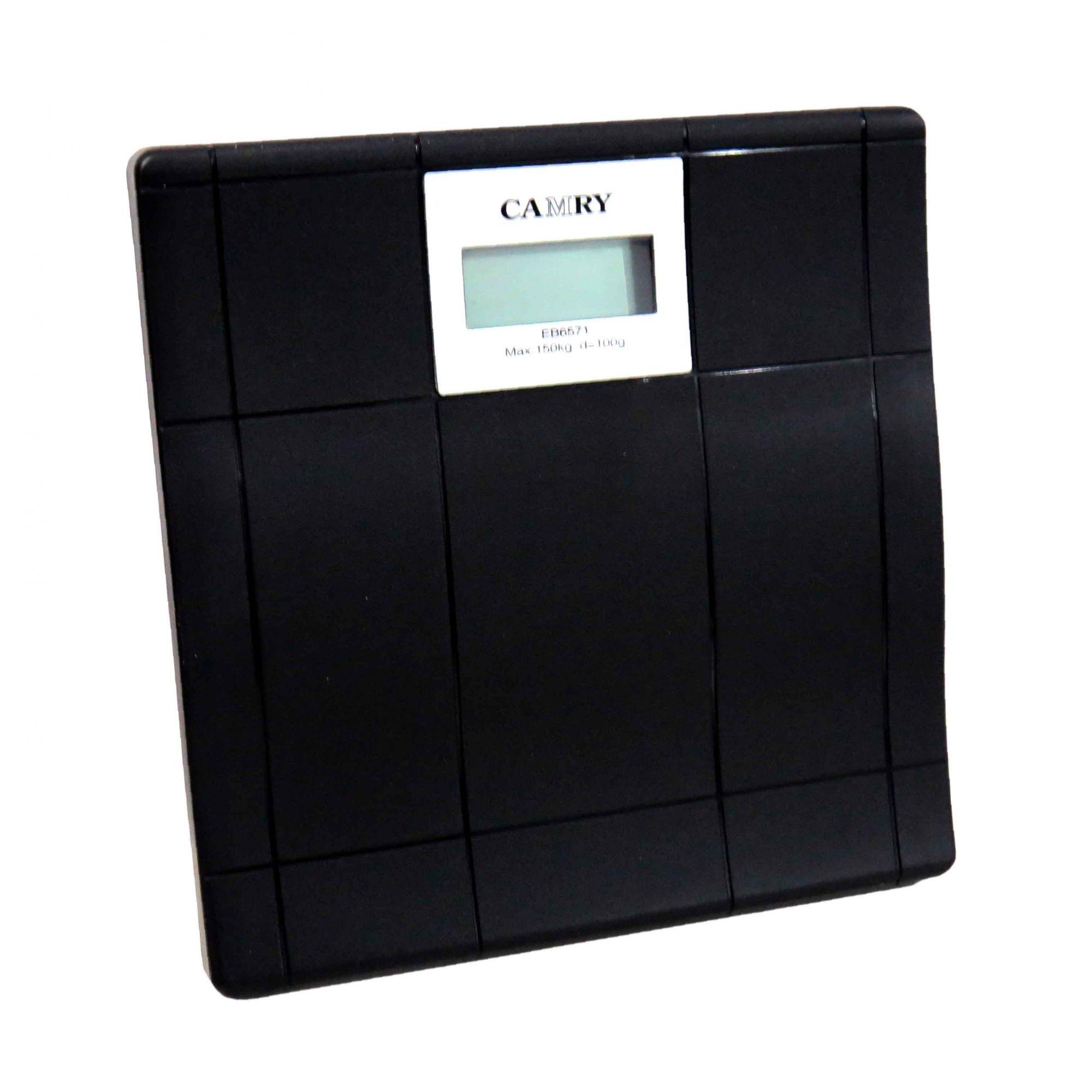 Balança Digital Para Banheiro Doméstica Preta Até 150kg Cód.EB-6571