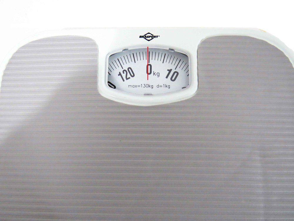 Balança Mecânica Antiderrapante 130kg Para Banheiro
