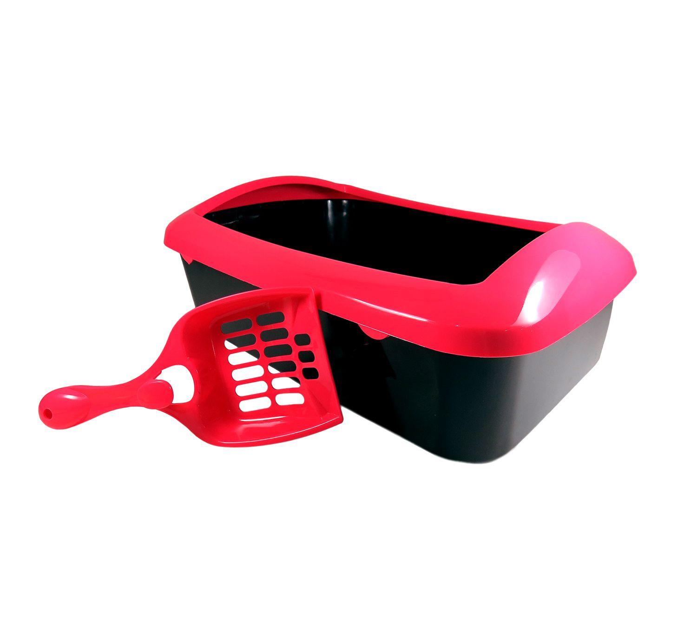 Caixa Higiênica Banheiro Sanitário Areia Para Gatos Com Pá
