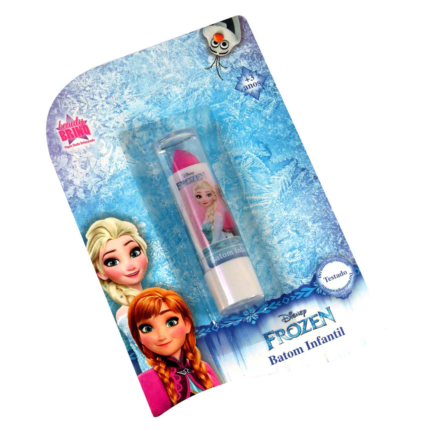 Batom Labial Frozen Maquiagem Infantil Make Up Beauty Brinq - Cremoso