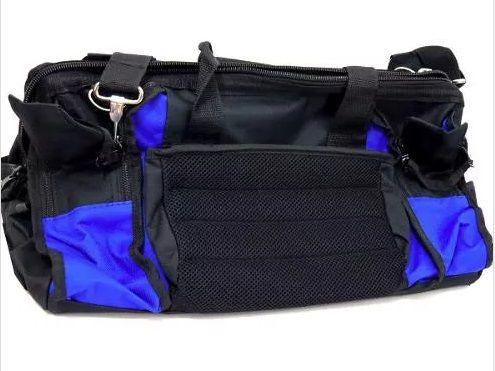 Maleta Bolsa Ferramentas Azul 39 Bolsos E Zíper 48x29cm
