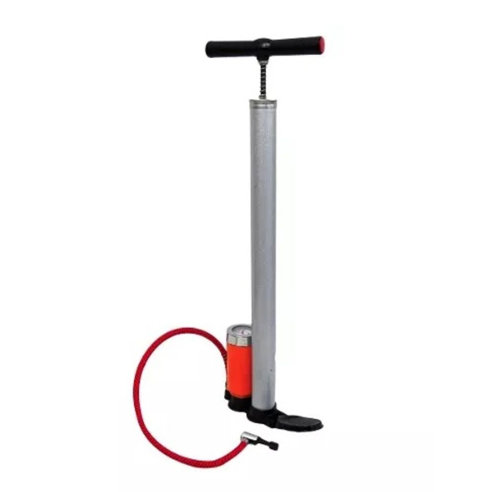 Bomba Para Bicicleta Com Manômetro 38x500mm Eda