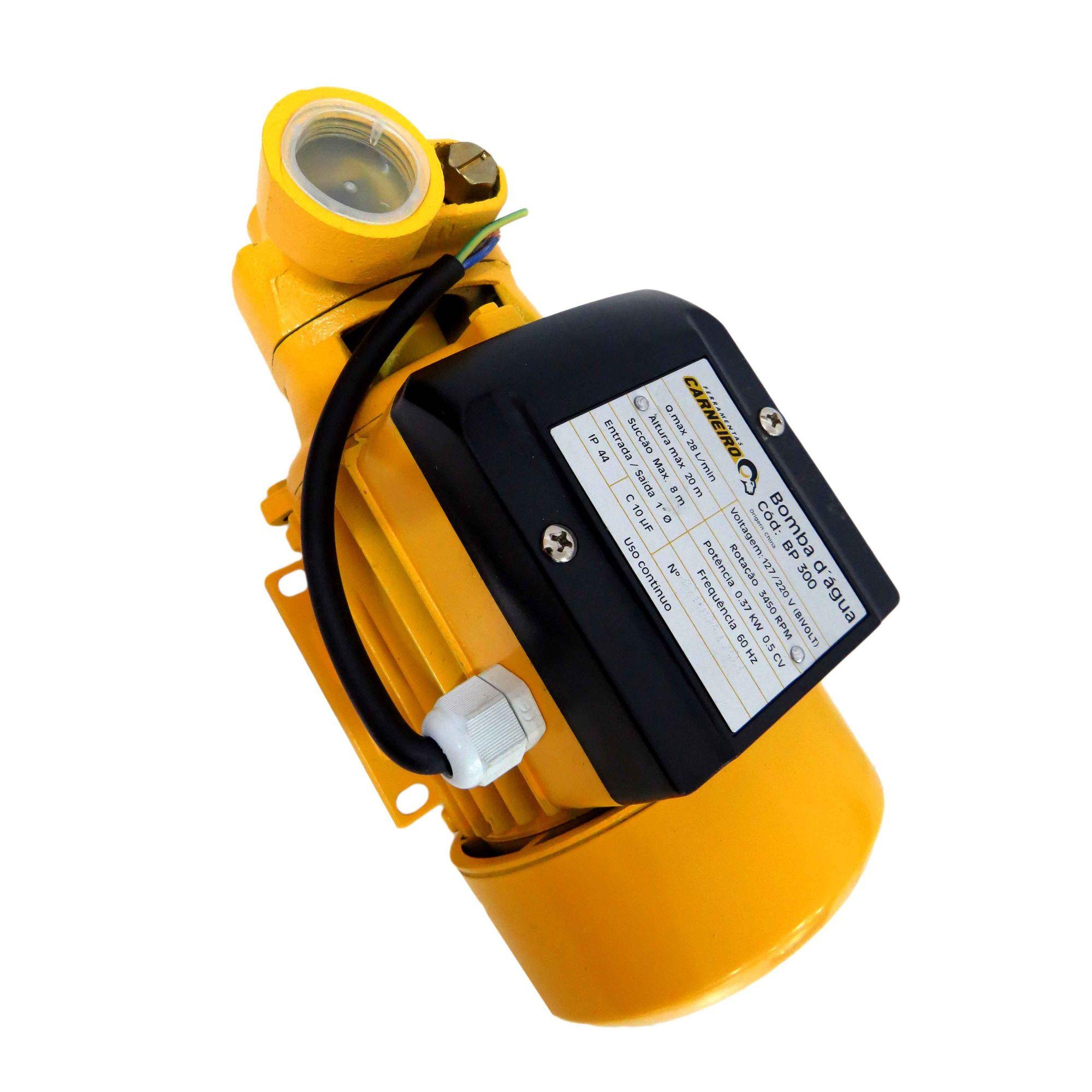 Bomba D' Água Periférica 1/2 Cv 0,37 Kw Bivolt Baixo Ruído