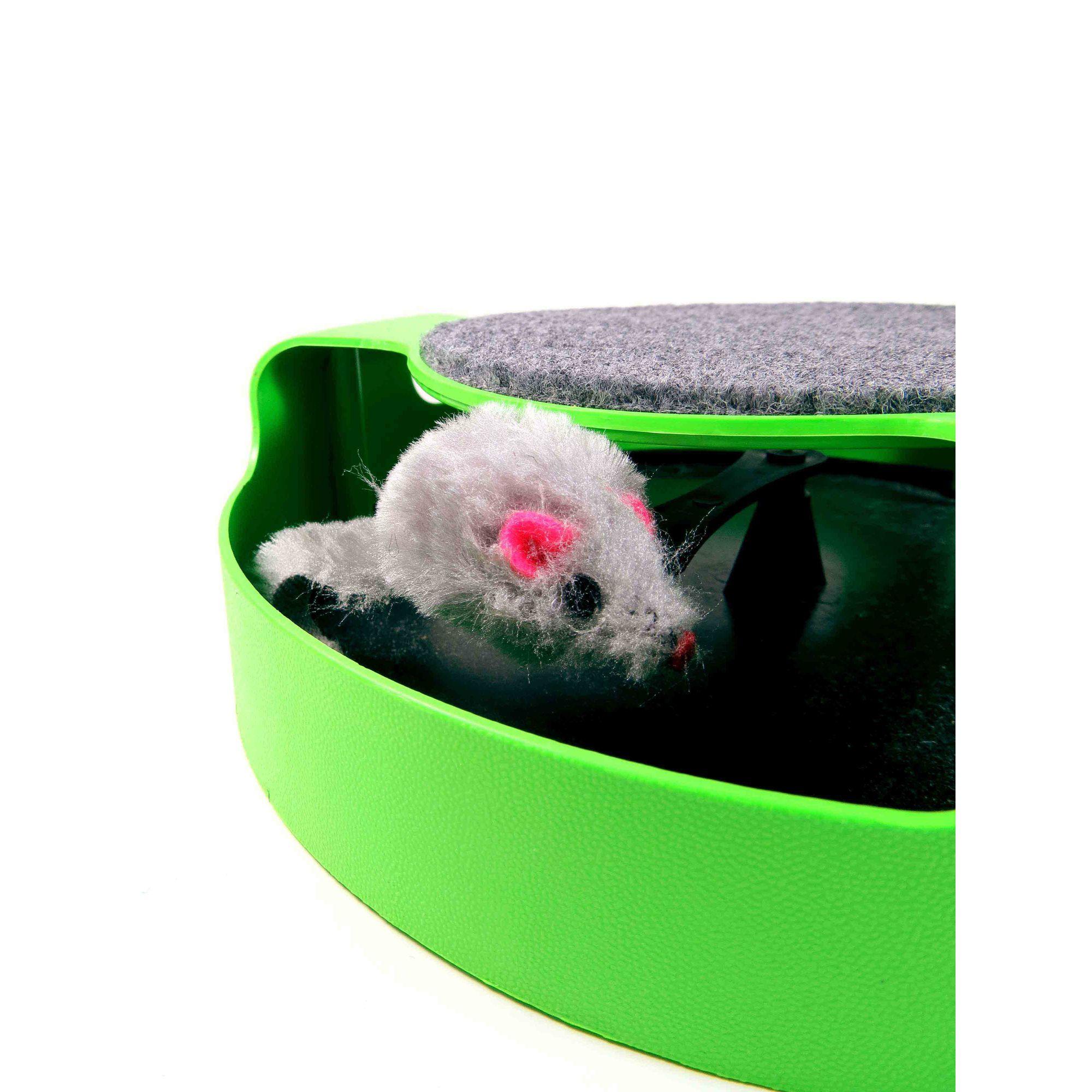 Brinquedo Interativo Para Gatos Roda Com Ratinho
